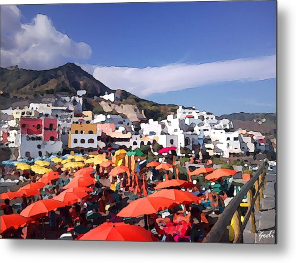 The Island Of Ischia Sant'angelo Metal Print