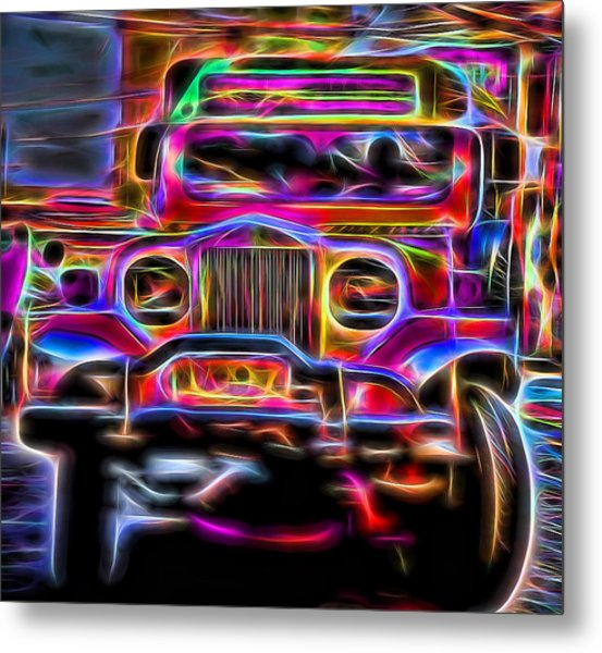 the Jeepney Metal Print