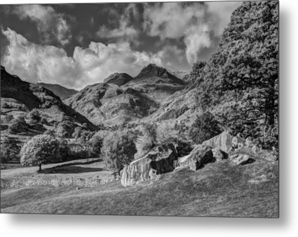 The Langdale Pikes From Copt Howe Metal Print by Graham Moore
