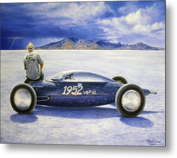 The Old Crow Belly Tank Metal Print