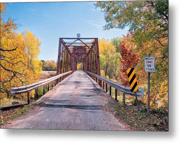 The Old River Bridge Metal Print