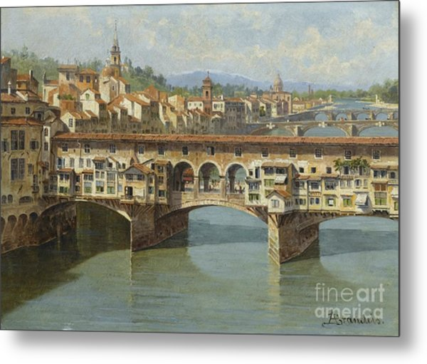 The Ponte Vecchio Florence Metal Print