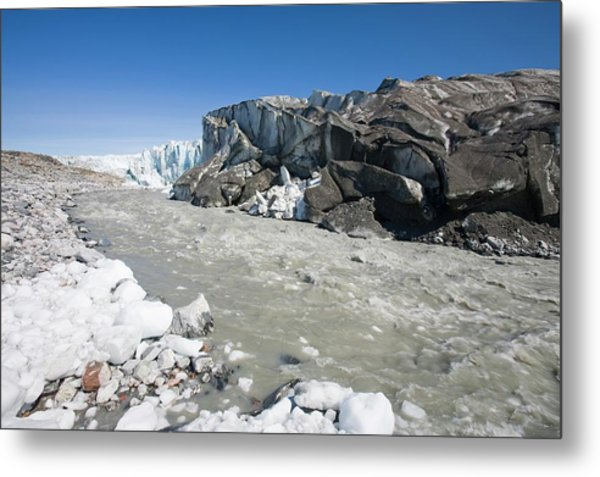 The Russell Glacier Metal Print