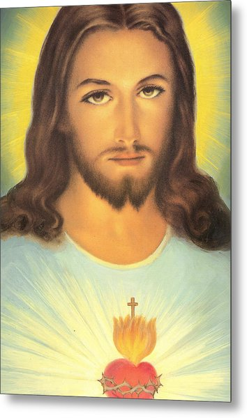 The Sacred Heart Of Jesus Metal Print