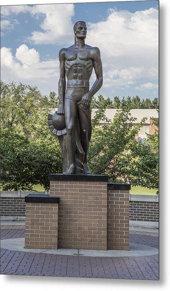The Spartan Statue At Msu Metal Print