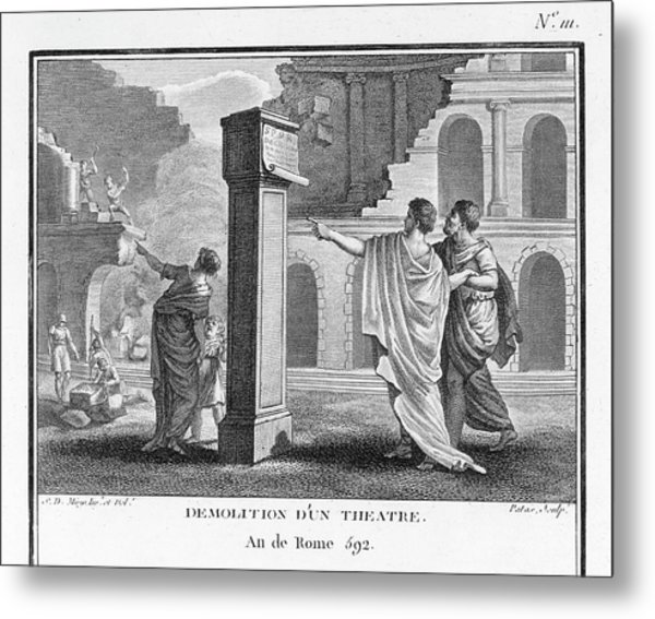 The Theatres Of Rome Are  Destroyed Metal Print