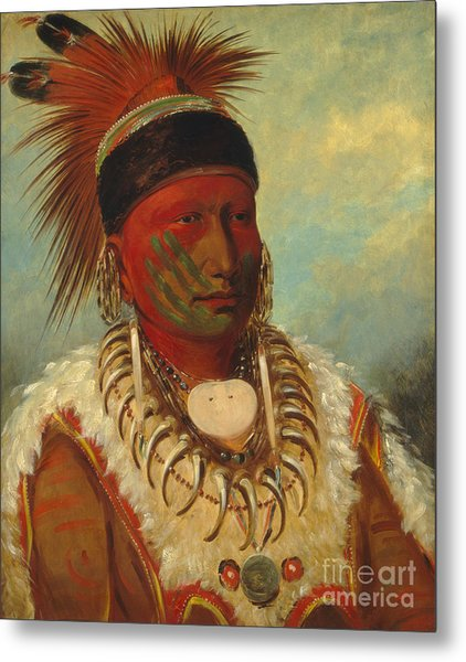 The White Cloud Head Chief Of The Iowas Metal Print