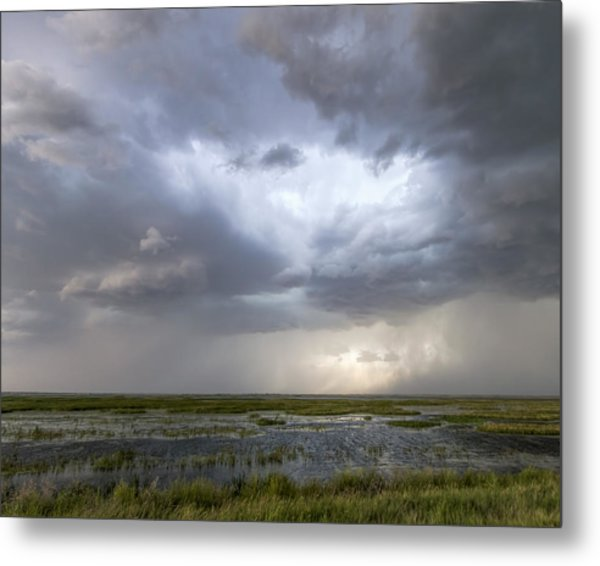 Metal Print featuring the photograph Thunderstorm Over Cheyenne Bottoms by Rob Graham