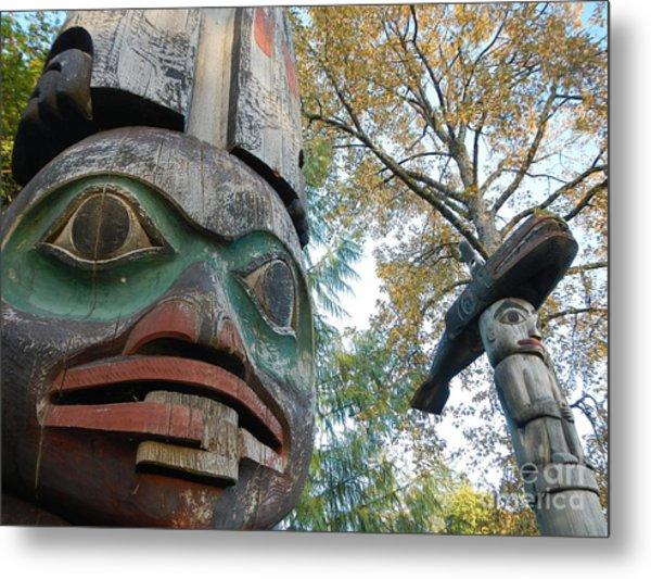 Tlingit Totem Metal Print