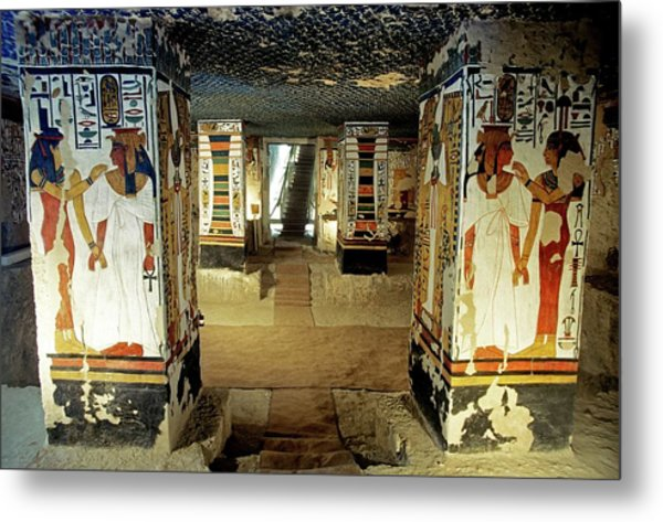 Tomb Of Queen Nefertari Metal Print by Patrick Landmann/science Photo Library