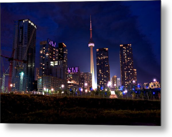 Toronto By Night Metal Print