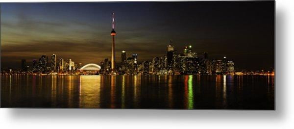 Toronto Evening Sky Line Panorama Metal Print