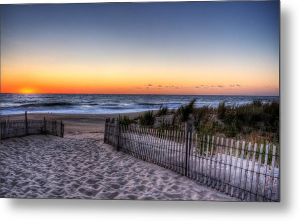Tower Beach Sunrise Metal Print