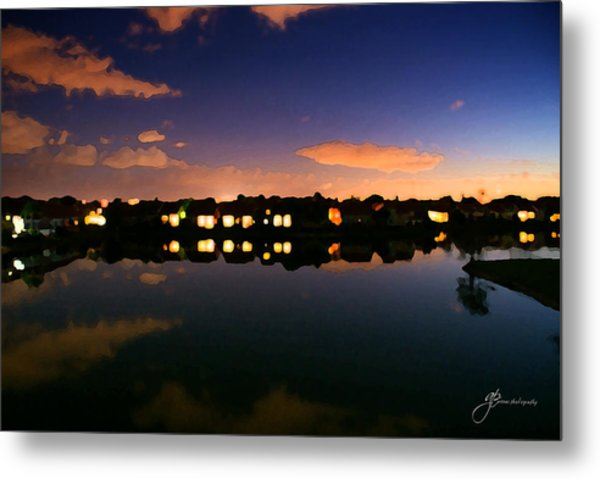 Town In Darkness Metal Print