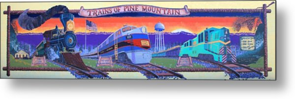 Trains Of Pine Mountain Metal Print