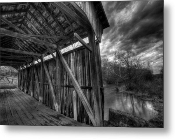 Trinity Road Covered Bridge Metal Print