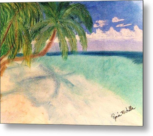 Tropical Shores Metal Print