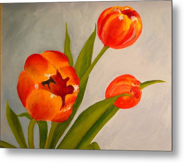 Tulips Metal Print by Valerie Lynch
