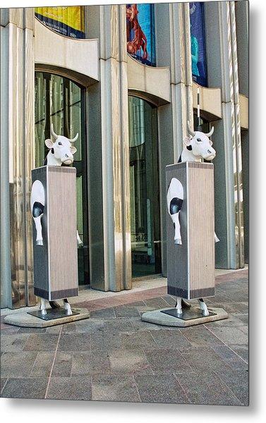 Cow Parade N Y C 2000 - Twin Cowers Metal Print