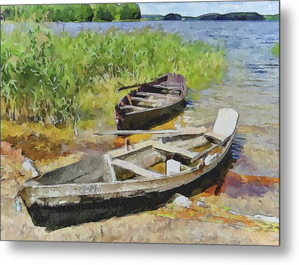 Two Boats Metal Print by Yury Malkov