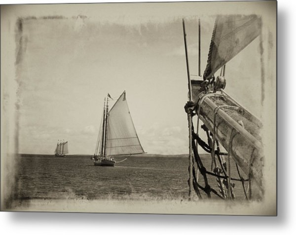 Two Schooners Metal Print