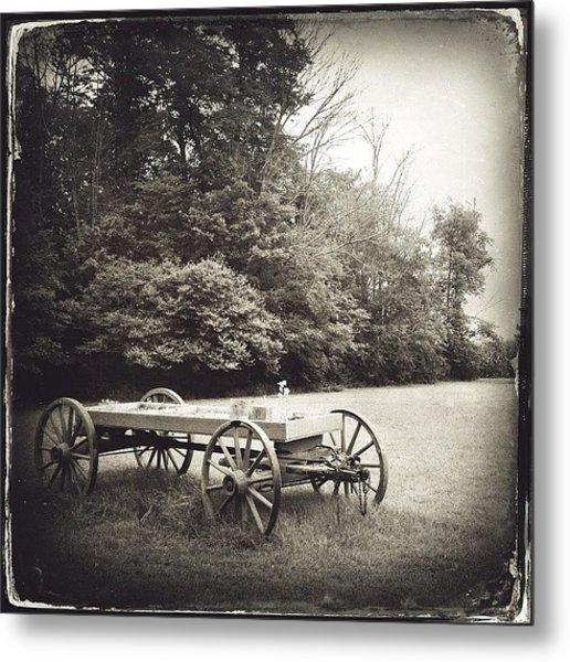 Uncle Robert's Wagon Metal Print