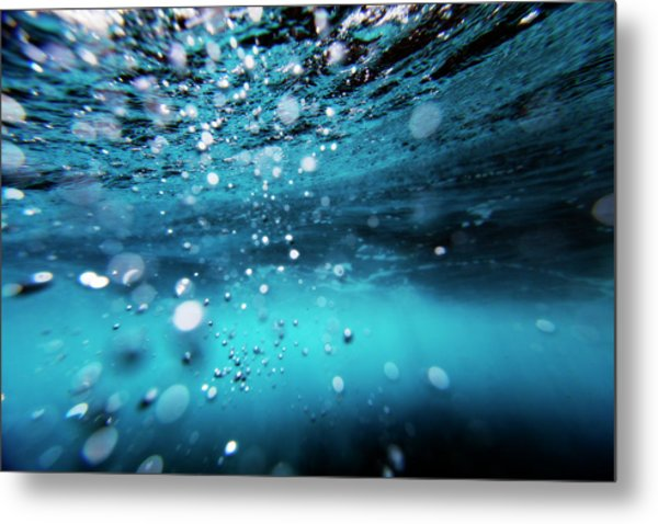 Underwater Bubbles Metal Print by Subman