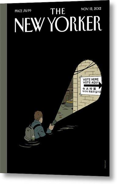 New Yorker November 12th, 2012 Metal Print