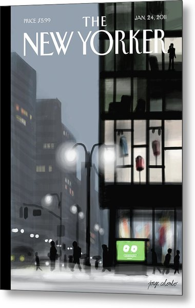 Fifth Avenue And Forty-second Street Metal Print