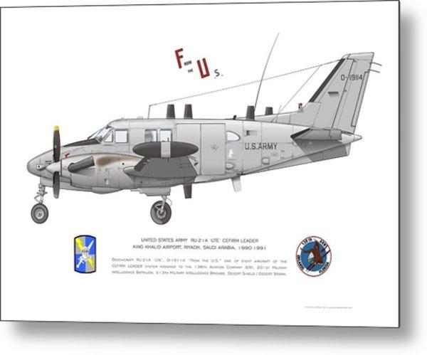 U.s. Army Ru-21a Metal Print