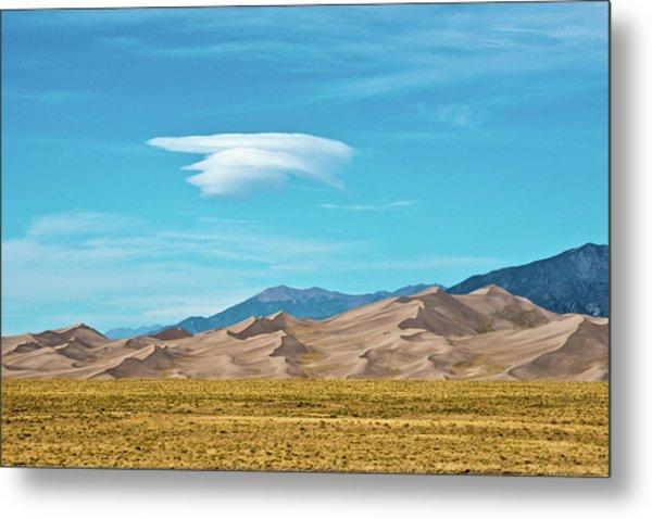 Usa, Colorado, Alamosa, Great Sand Metal Print