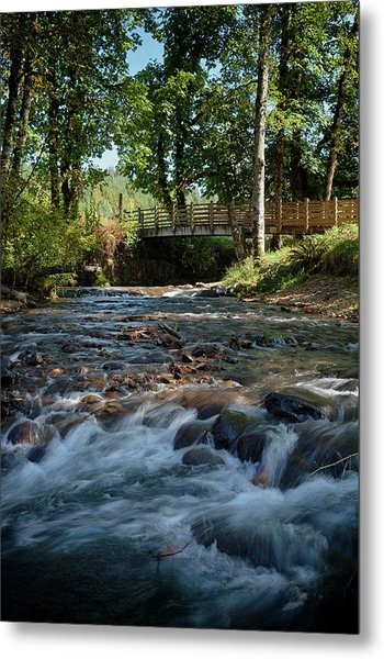 Usa, Oregon, Scio, Crabtree Creek Metal Print