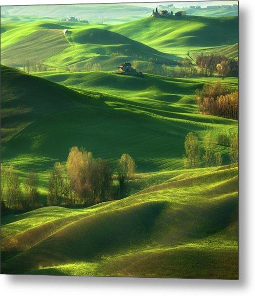Valley... Metal Print by Krzysztof Browko