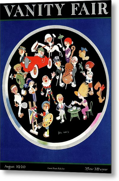 Vanity Fair Cover Featuring Caricatures Doing Metal Print