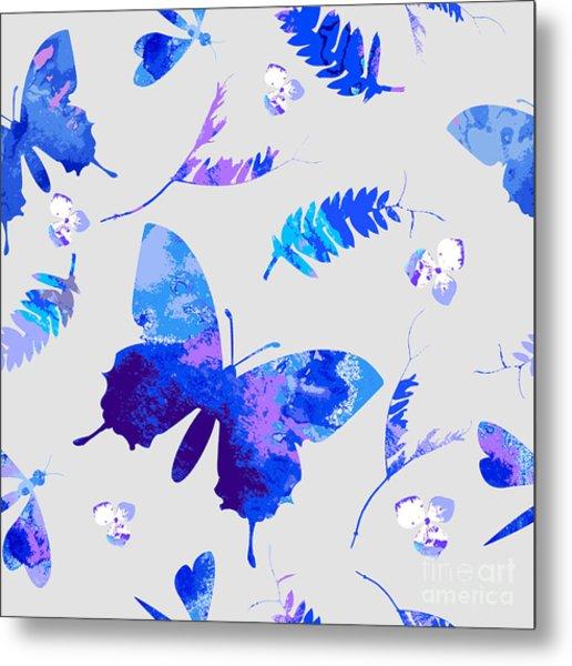 Vector Floral Watercolor Texture Metal Print by Galinal