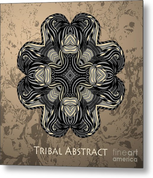 Vector Tribal Abstract Element For Metal Print