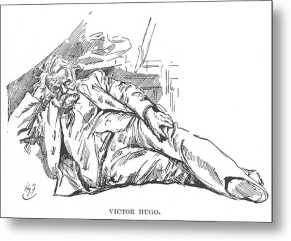 Victor Hugo  French Novelist Metal Print by Mary Evans Picture Library