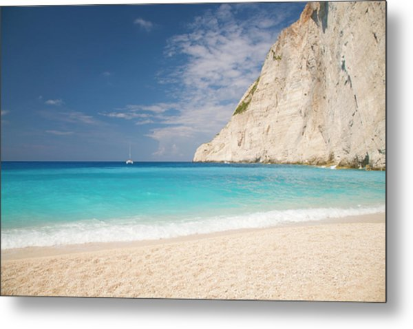 View From Beach, Navagio Bay Metal Print