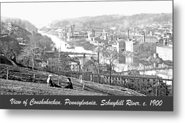 View Of Conshohocken Pennsylvania C 1900 Metal Print