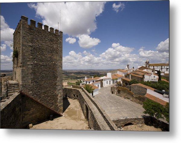 Village Of Monsaraz Portugal Metal Print by Jim  Wallace