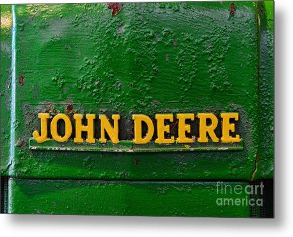 Vintage John Deere Tractor Metal Print