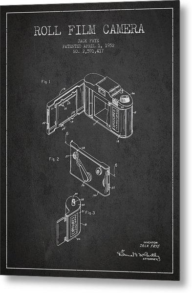 Vintage Roll Film Camera Patent From 1952 Metal Print