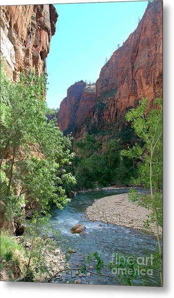 Metal Print featuring the photograph Virgin River Rapids by Jemmy Archer