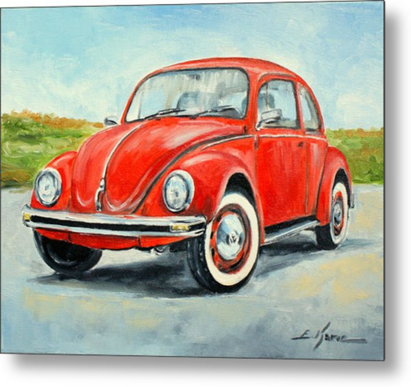 Vw Beetle Metal Print