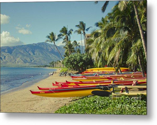 Kenolio Beach Sugar Beach Kihei Maui Hawaii  Metal Print