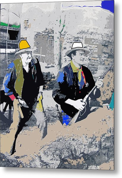 Walter Brennan And John Wayne Publicity Photo Rio Bravo Old Tucson Arizona 1959-2013 Metal Print by David Lee Guss