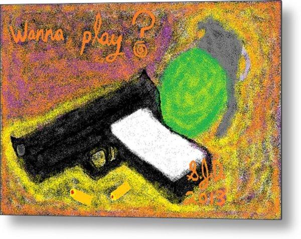 Wanna Play? Metal Print by Joe Dillon