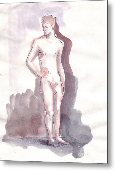 Washed Boy Metal Print by Line Arion