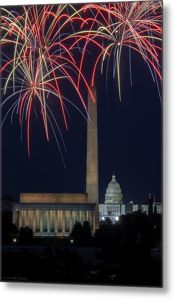 Washington Dc Fourth 3 Metal Print