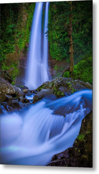 Waterfall - Bali Metal Print
